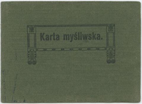 Karta myśliwska na nazwisko Ludwik Wolko