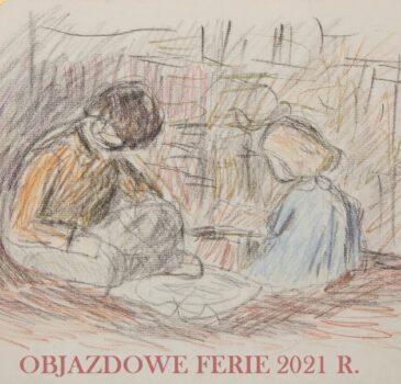 Plakat Objazdowe Ferie z rysunkiem Tadeusza Potworowskiego