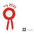 Kokarda narodowa i napis maj 2021
