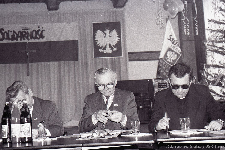 """Wybory do MKO """"Solidarność"""". Kępno 16.02.1990 r. fot. ze zbiorów Jarosława Skiby"""